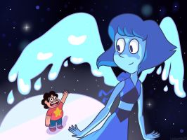 Steven and Lapis Lazuli by ladysantos30