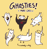 CHEAP cat ghosties 2! (open) by spaded-square