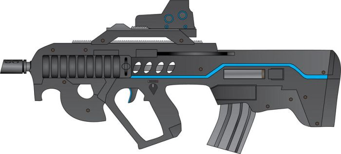 PDW - personnel Defence Weapon by larundel
