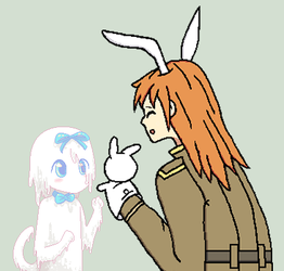 Look Mr. Eps, Two Bunnies! - Collab by Hexidextrous
