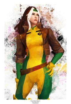 Rogue from X-men by j2Artist