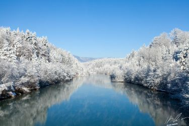 Winter river by Mioko001