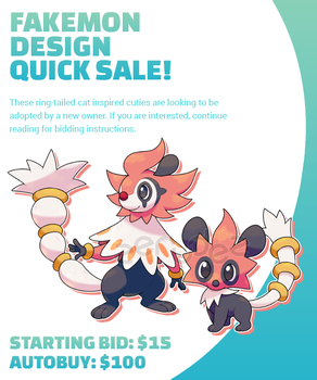 [ENDED] Fakemon Design Quick Sale by zerudez