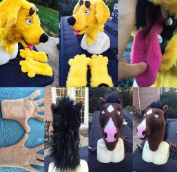 BojackHoreman and Mr PB costumes for Sale!! by Yamishizen