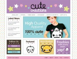 CUTE CREATIONS: Website by ThePeasyLifeCo