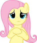 Lying sad Fluttershy by CrusierPL