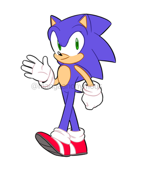 There's the speedy blue boy! by Mangaanonymous