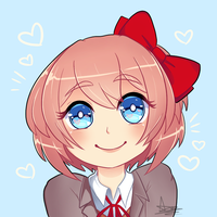 Sayori by angrypastries