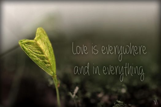 Love is everywhere and in everything. by Penni2