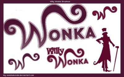 Willy Wonka Photoshop Brushes by saddiamonds