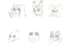 Star Fox team sketches by peridive78