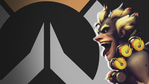 Overwatch Side Profile Wallpaper - Junkrat by PT-Desu