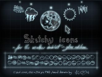 Sketcy Weather Icons Glow ed. by AzureSol