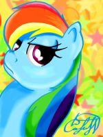 Beuty Rainbow Dash by s4vin