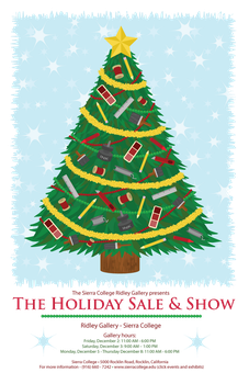 Sierra College Holiday Sale And Show Poster by DreaTheRobot
