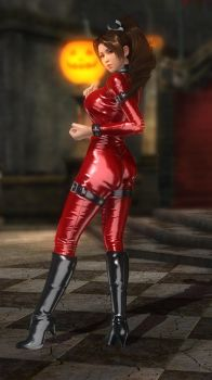 Mai Leather Catsuit Red 033 by DOA5lrScreenShots