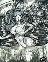Julie vs. Creature From the Black Lagoon by DoctorRocket
