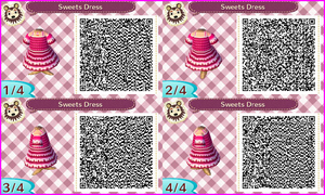 ~Animal Crossing~ QR Codes - Sweets Dress by sakurablossom143