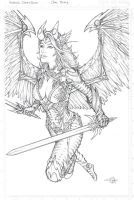 Angelus Witchblade lines by Carl-Riley-Art