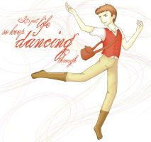 Dancing Through Life by elphin-art