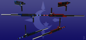 Lunar Illusion (RWBY OC weapon) by JackBryanReynard