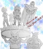 Here's to the New Year Dragon Ball Super! by Dbzbabe