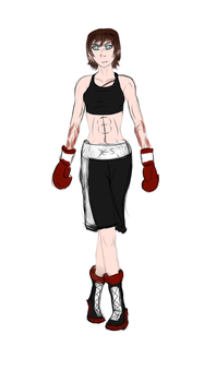Veronica Eagle: Boxing Attire Colored by Mechassault-Man