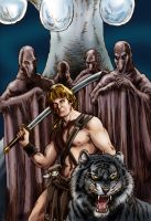 The Beastmaster Meets the Bat Men by Loneanimator