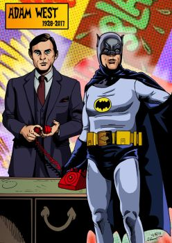 Adam West 1928-2017 by deanfenechanimations