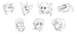 Bust Expression Commission Sketches by GTPanda