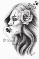 Chicano Beauty Girl by Zindy