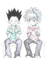 GON and KILLUA by tensaimiwa