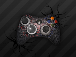 Very detailed xbox controller by Supertod
