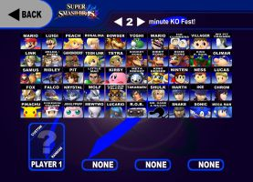 My Super Smash Bros 4 Roster (pre-2014) by AdmiralN30