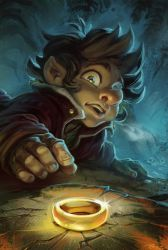 Bilbo and the Ring by 3nrique