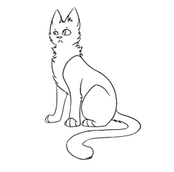 F2U Windclan Warrior Cat Lineart by popfiish