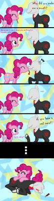 Pinkie Pie an the Slender mane by aguantegrimtales