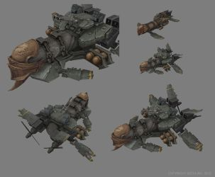Sky Corsair - Medium Airship by smurfbizkit