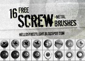 Free Brush Set 23: Screw heads by tau-kast