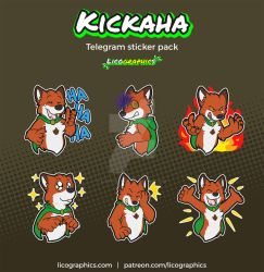 Kickaha Sticker Pack by LicosAragon