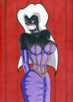 Queen Tyr'ahnee in tie and silence for the night by gustorak