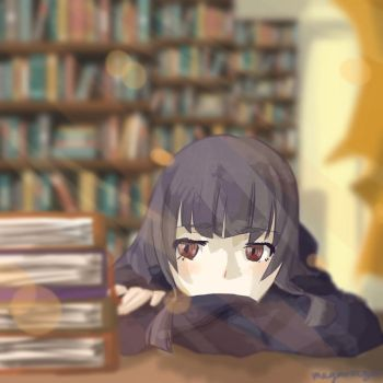 In the library by megarazor