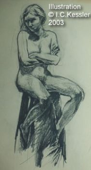 Nude on a Stool by ickessler