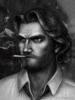 Big bad wolf (The Wolf Among Us fanart) by Akadio
