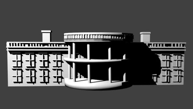 3D model of the White House by XSylviaxEdwardsX