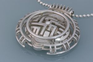 Pendant with diamond by Mikelm