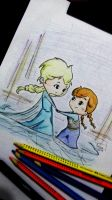 Frozen - Elsa and Anna 1 by MiLenaFernandes
