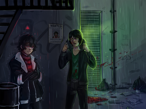 Meeting in a dark alley by DamaiMikaz