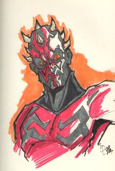 DARTH MAUL by JUANPUIS
