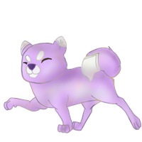 Purple doge fullbody (Commission) by TropicaIDeer
